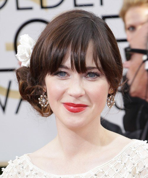 The Best 14 Zooey Deschanel Hairstyles Hair Cuts And Colors Pictures