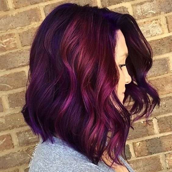 The Best 35 Bold And Provocative Dark Purple Hair Color Ideas Pictures