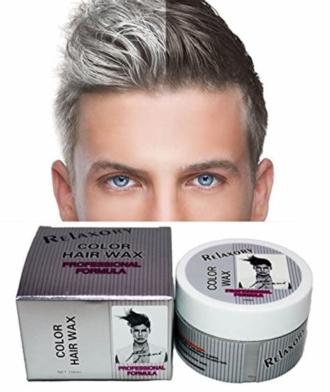 The Best Relaxory Temporary Color Hair Wax Molding Clay Gery White Pictures