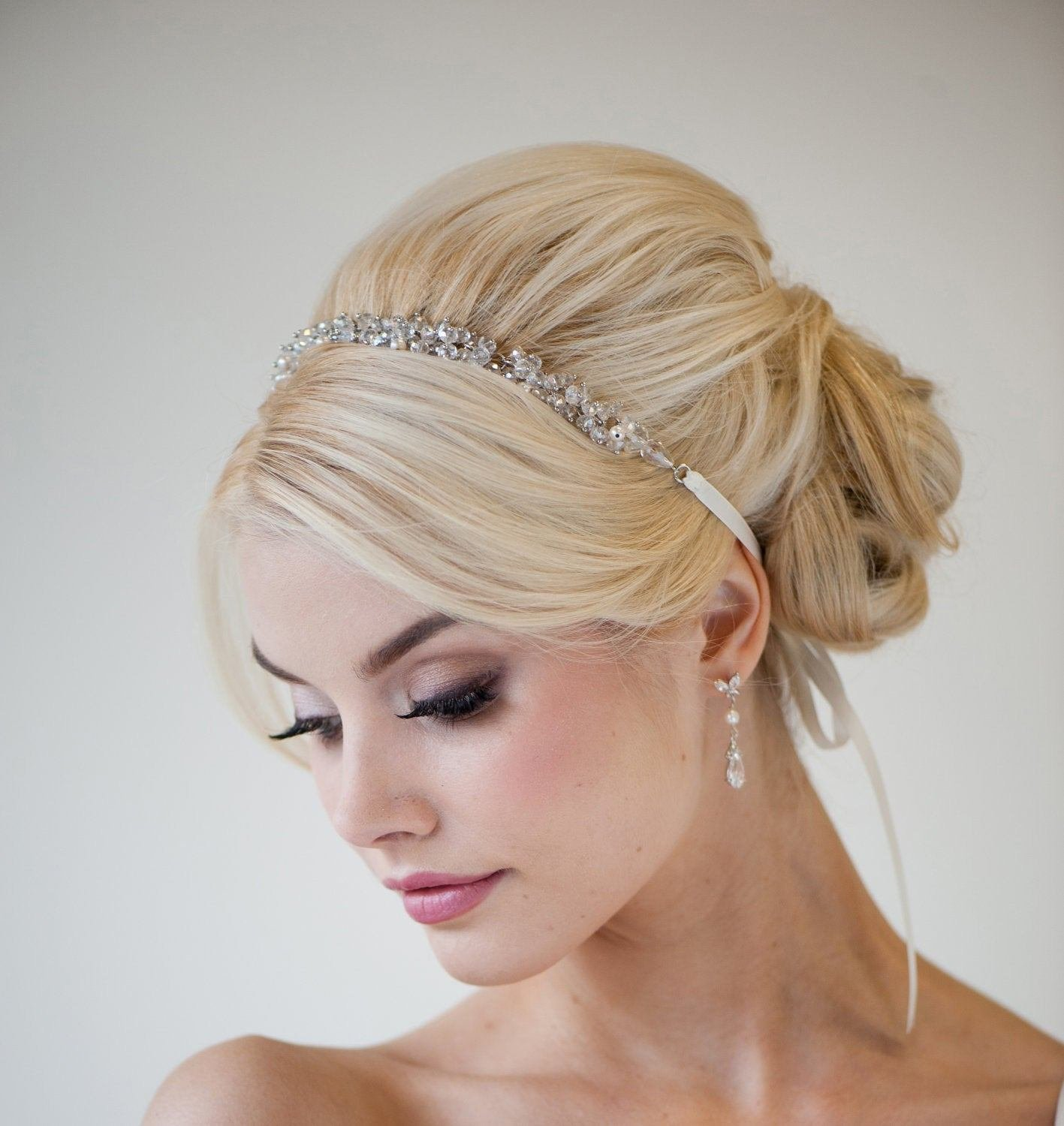 The Best Bridal Ribbon Headband Bridal Hair Accessory Beaded Ribbon Pictures