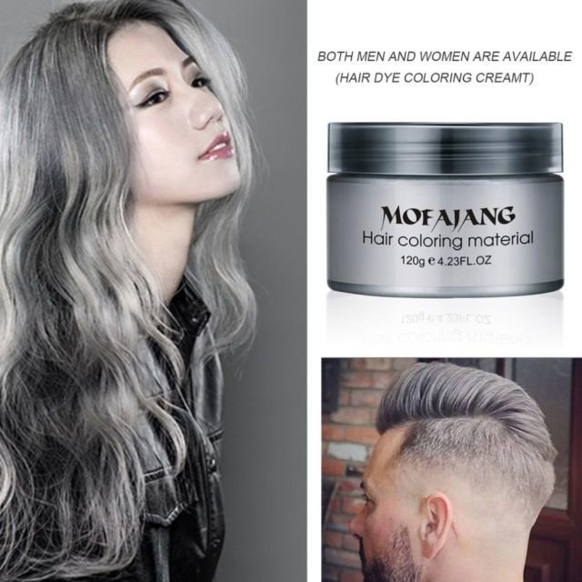 The Best Mofajang Dye Unisex Grey Hair Color Mud Wax Molding Silver Pictures