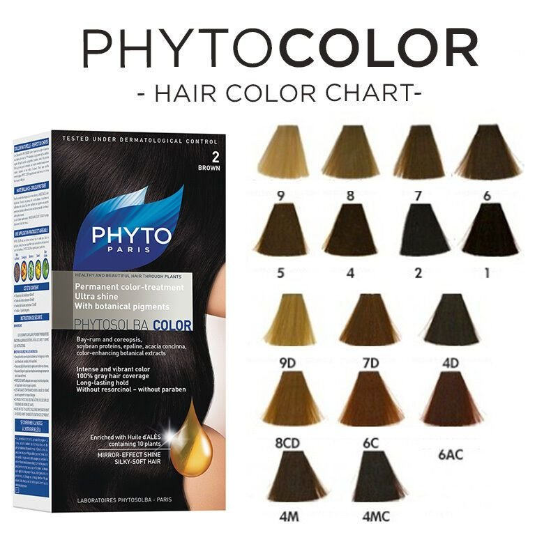 The Best Phyto Paris Phytocolor Phytosolba Hair Color Different Pictures