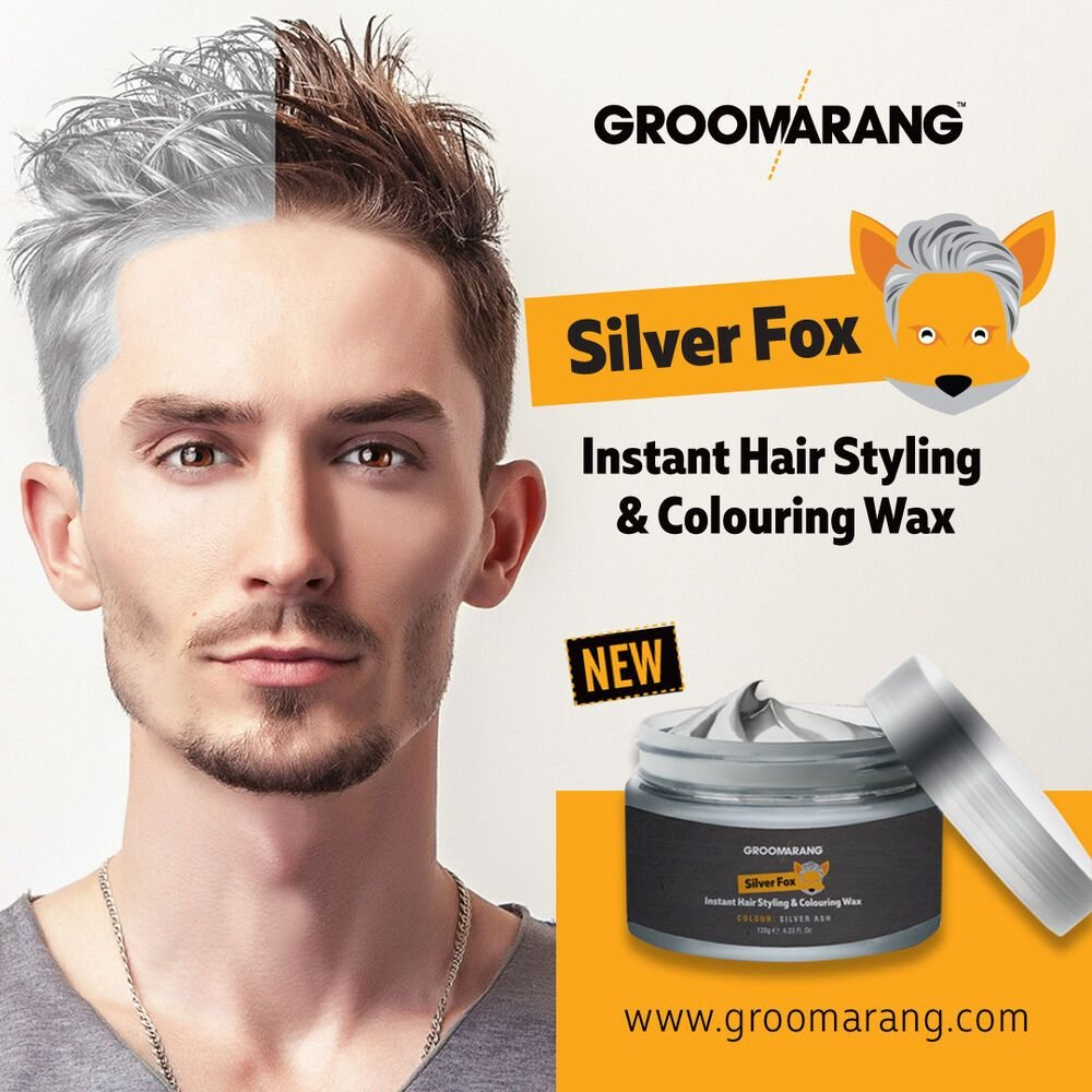The Best Silver Colour Grey Hair Wax Men Women Grandma Hair Ash Dye Pictures