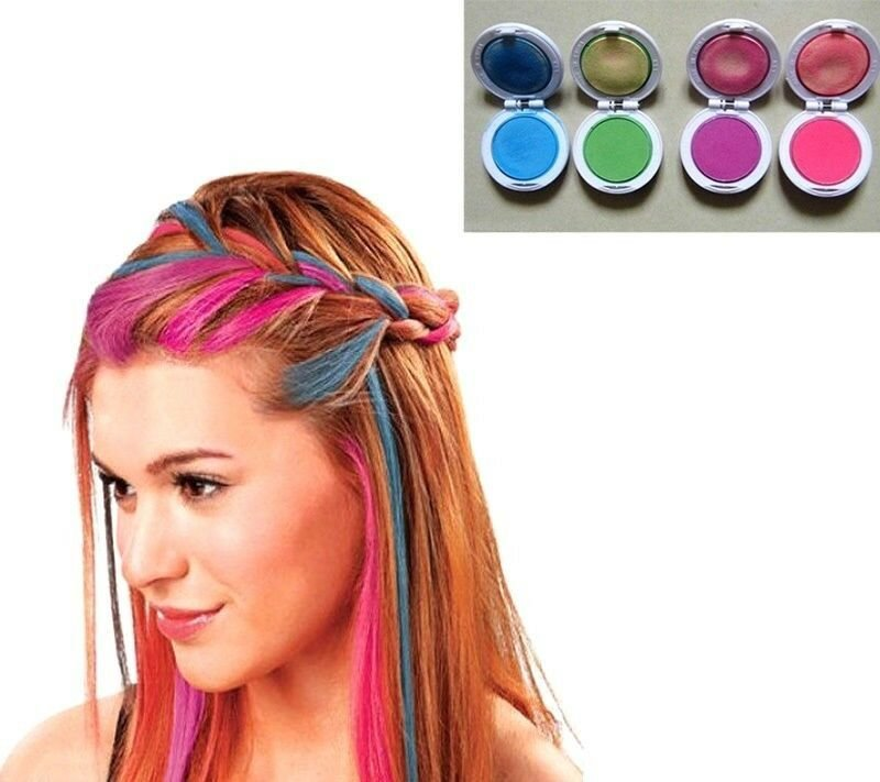 The Best Fd614 Girl Women Temporary Hair Chalk Pink Blue Fuchsia Pictures