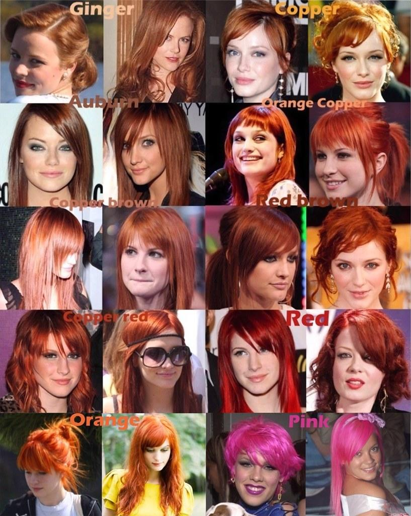 The Best Red Orange Pink Hair Color Chart A Photo On Flickriver Pictures
