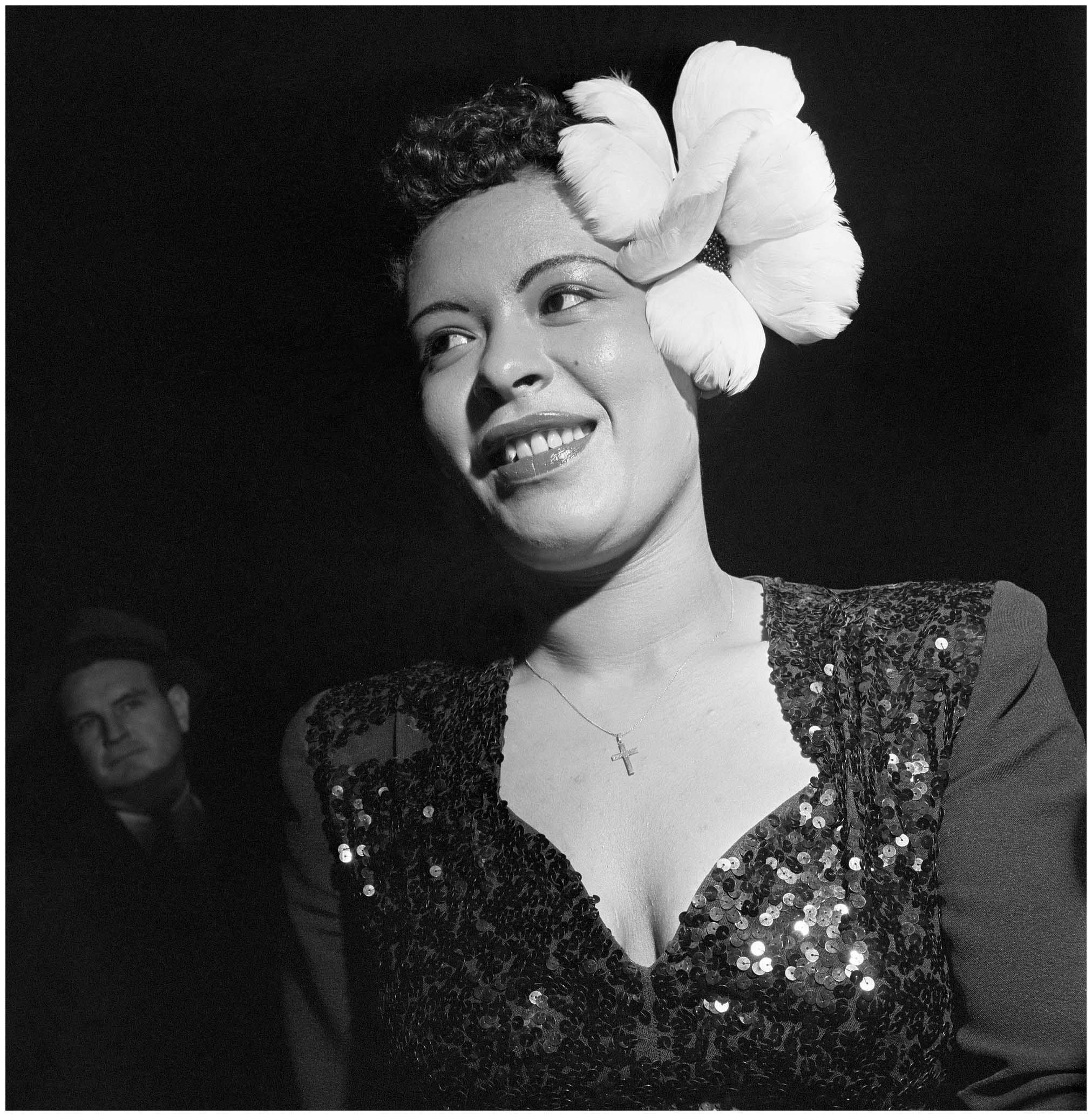 The Best Billie Holiday Wears A Large White Flower In Her Hair Pictures
