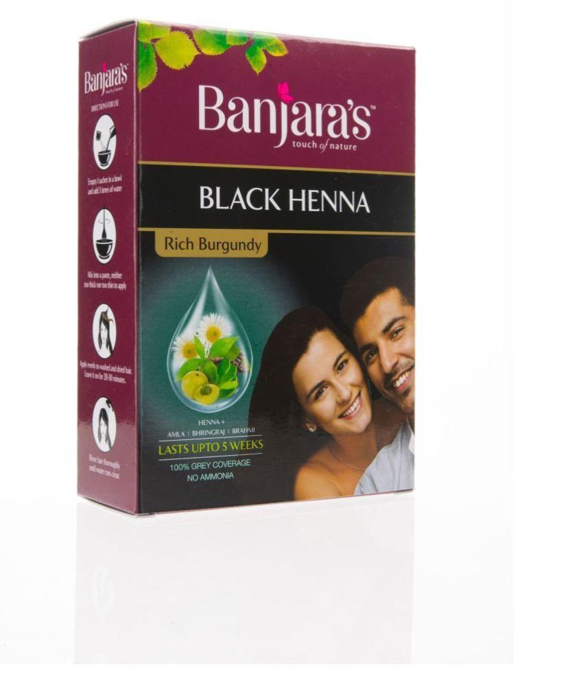 The Best Banjaras Black Henna Rich Burgundy Temporary Hair Color Pictures