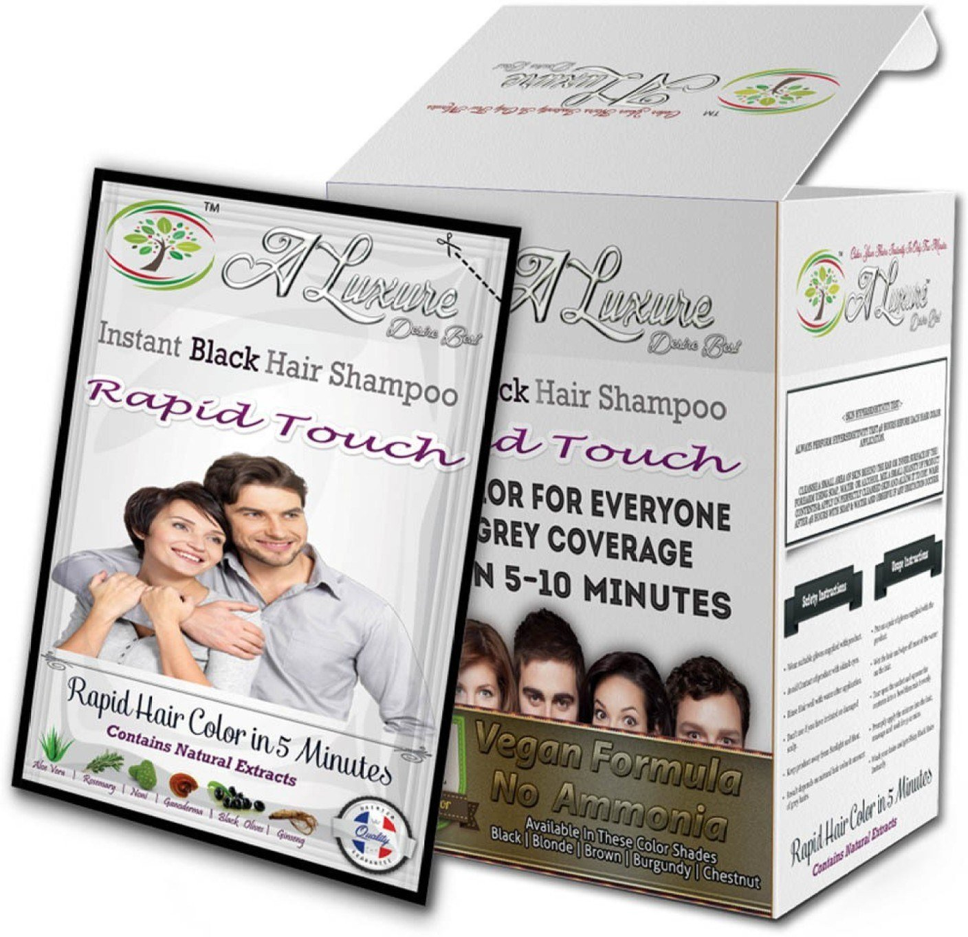 The Best Rapid Touch Instant Hair Color Shampoo Pack Of 10 Sachet Pictures