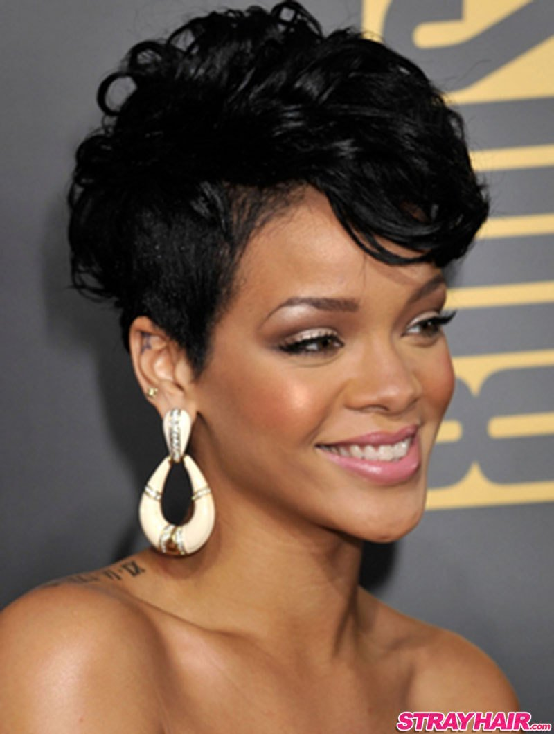 The Best Rihannas Many Great Short Hairstyles – Strayhair Pictures