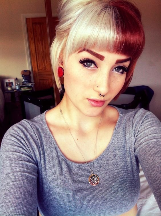 The Best 1000 Ideas About Dyed Bangs On Pinterest Splat Hair Dye Pictures