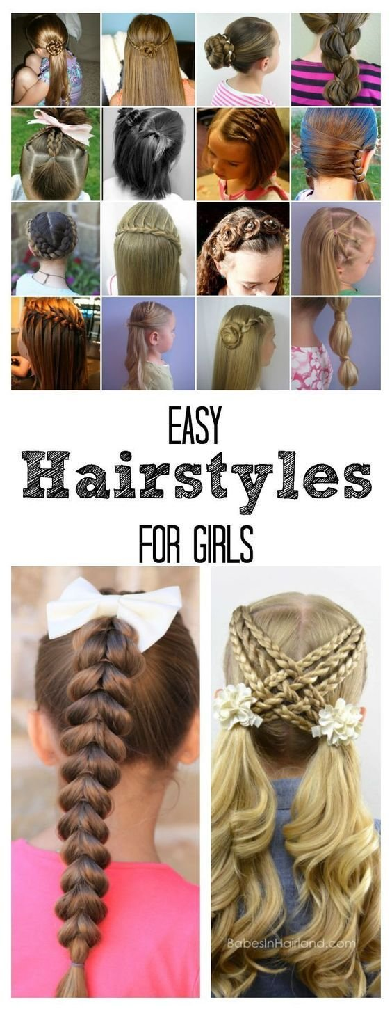 The Best Easy Hairstyles For Girls Your Hair Girls And Pictures