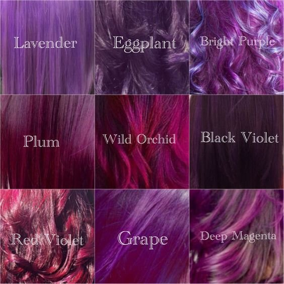 The Best My Shades Of Violet Hair Color Purple Tones Lavander Pictures