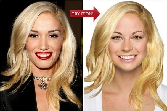The Best Hollywood Hair Virtual Makeover Try On Celebrity Pictures