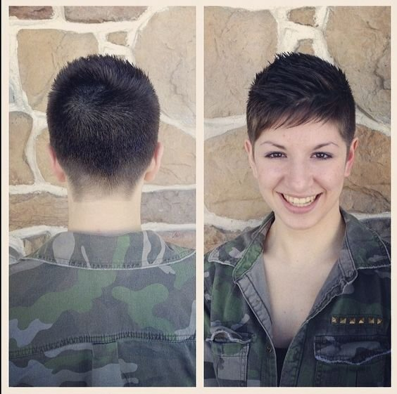 The Best Military Inspired Shearing Pixie Cut Pinterest Pictures