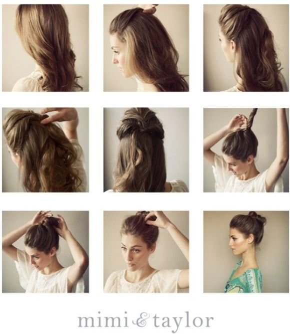 The Best Super Easy Top Knot Hair Bun Step By Step Tutorials Pictures