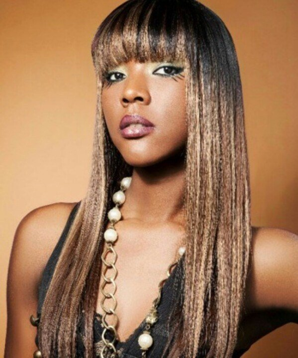 The Best Long W Heavy Bang Hair Relaxed Weaved Wigs Black African Pictures