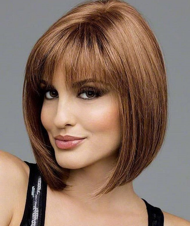 The Best Bobs Hairstyle For Woman Over 50 With Bangs Medium Short Pictures