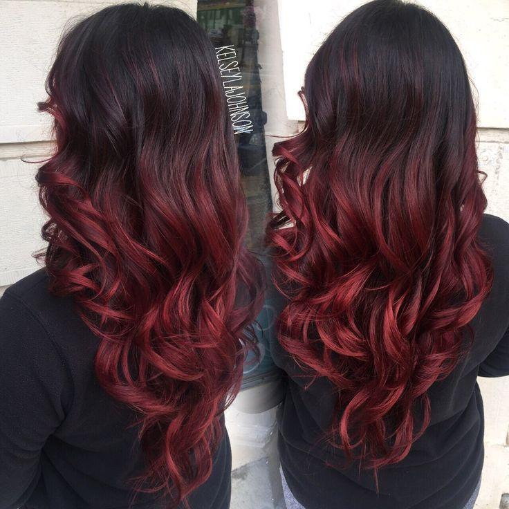 The Best Dark Brown To Red Ombre The Beauty Industry Pinterest Pictures