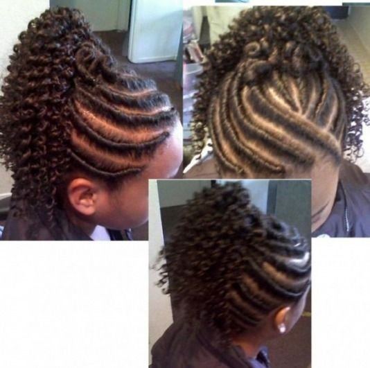 The Best Flat Twist Updo With Extensions Below Flat Twist With Pictures