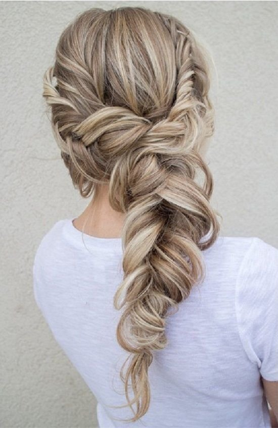 The Best Best 25 Fishtail Wedding Hair Ideas On Pinterest Elegant Wedding Hairstyles Elegant Wedding Pictures