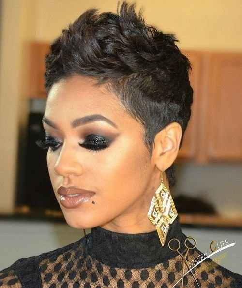 The Best 60 Great Short Hairstyles For Black Women Pixie Hairstyles Black Women And Hairstyles For Pictures