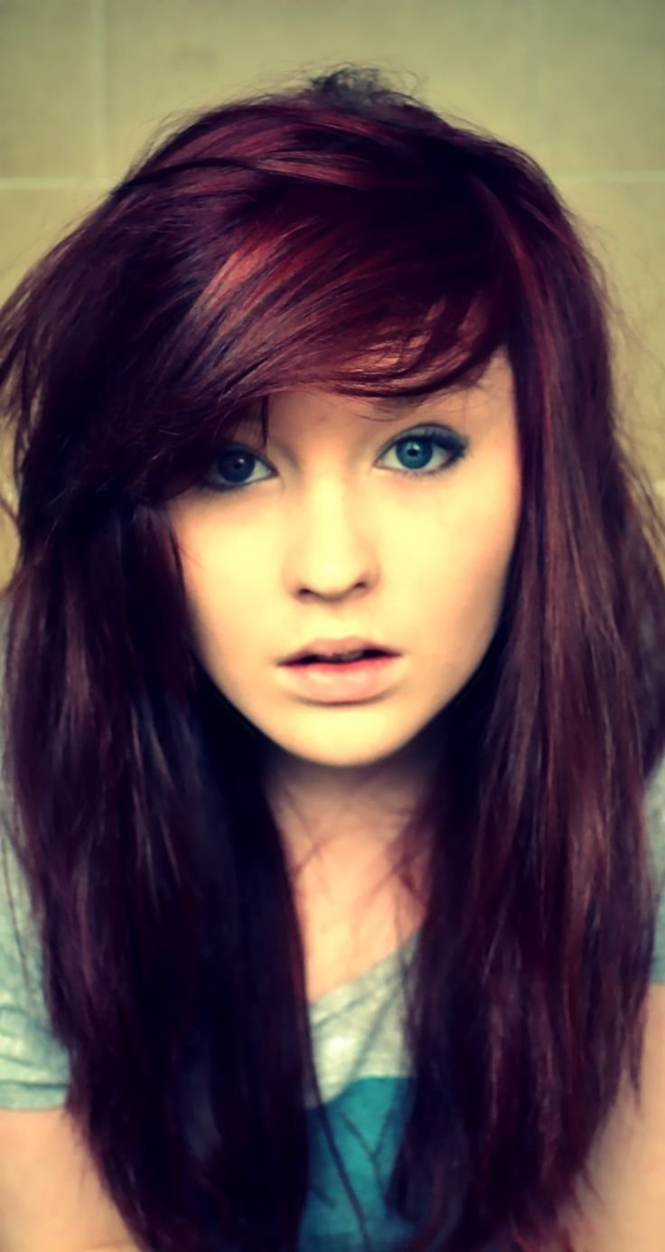 The Best Medium Violet Haircut Pics Women Dark Red Violet Pictures