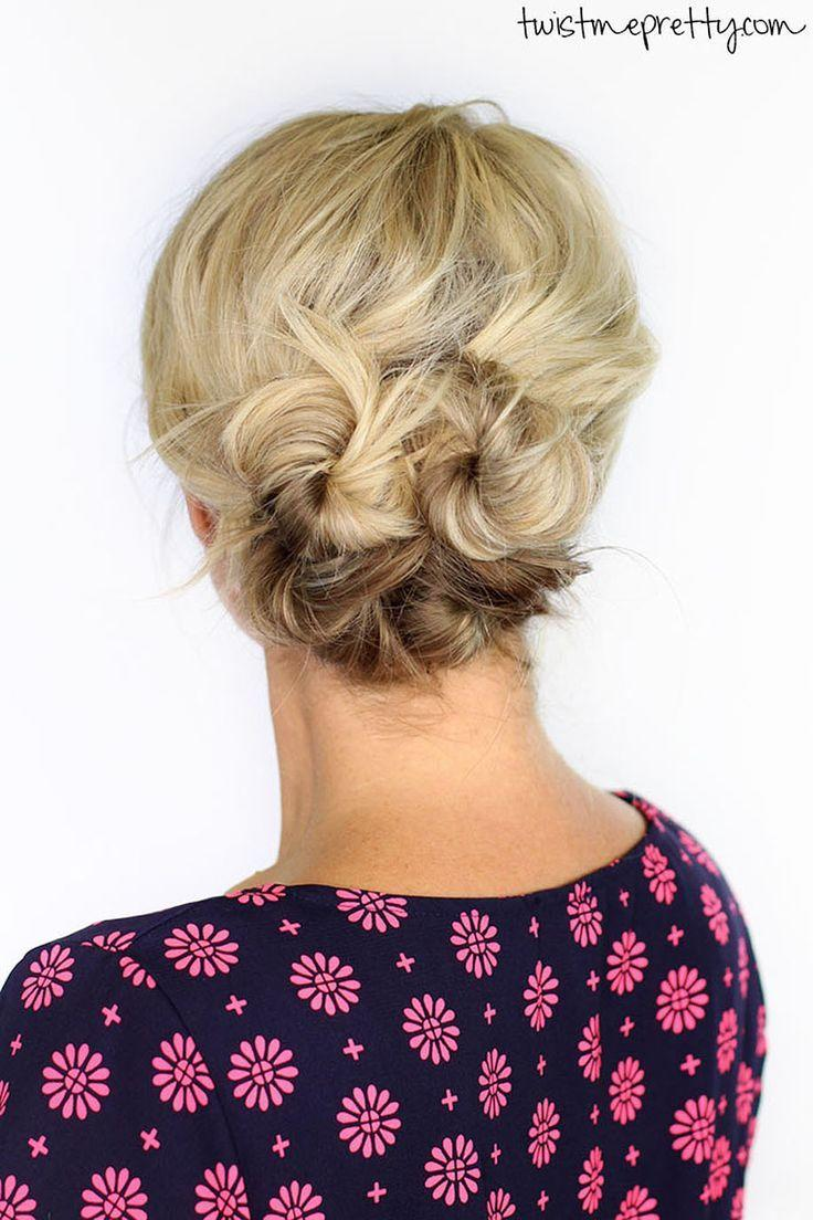 The Best 9 Seriously Cute Ways To Style Short Hair Buns Cute Pictures