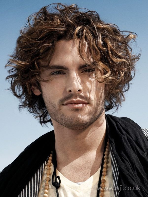 The Best Mid Length Curly Hairstyle For Men Mid Length Hair Pictures