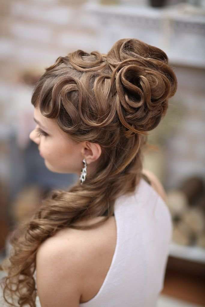 The Best Elegant Curly Hairstyle For Long Hair Hairstyles Pictures