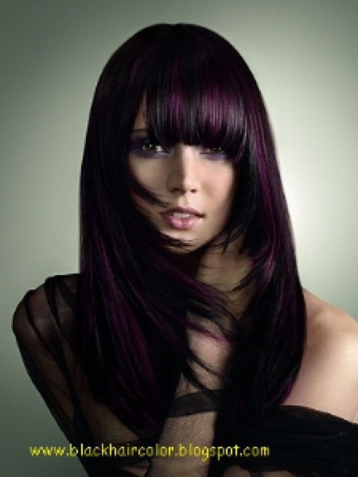 The Best Dark Burgundy Hair Color With Highlights Dark Hair Pictures