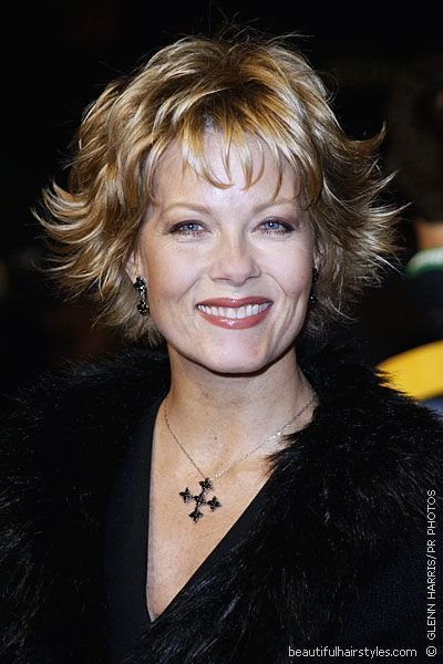 The Best Barbara Niven In Very Flippy Short Hairstyle With Bangs And Many Layers Beautiful Hairstyles Pictures