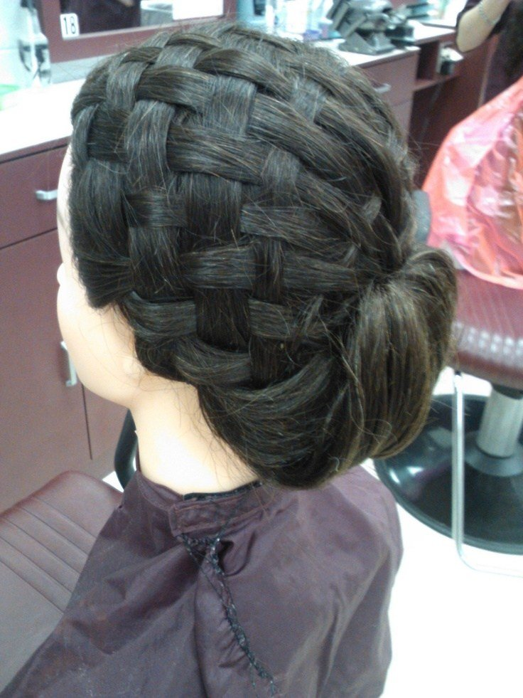 The Best Basket Weave Updo Done In Cosmetology Class Hair Design Pictures