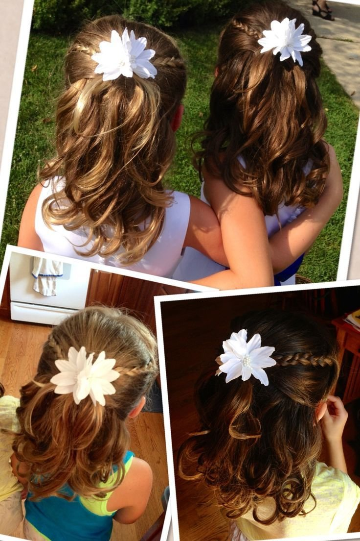 The Best Flower Girl Hairstyle Half Up With Braids And Curls Pictures