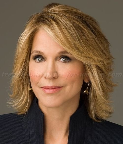 The Best Medium Hairstyles Over 50 Paula Zahn Layered Bob Haircut Trendy Hairstyles For Women Com Pictures