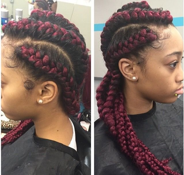 The Best Red Cornrow Braids With Weave Braids Pinterest Cornrow Pictures