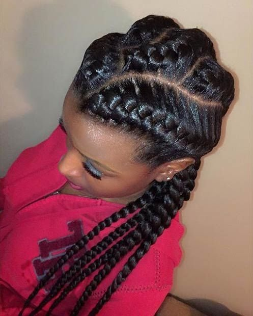 The Best 31 Goddess Braids Hairstyles For Black Women Cornrows Pictures