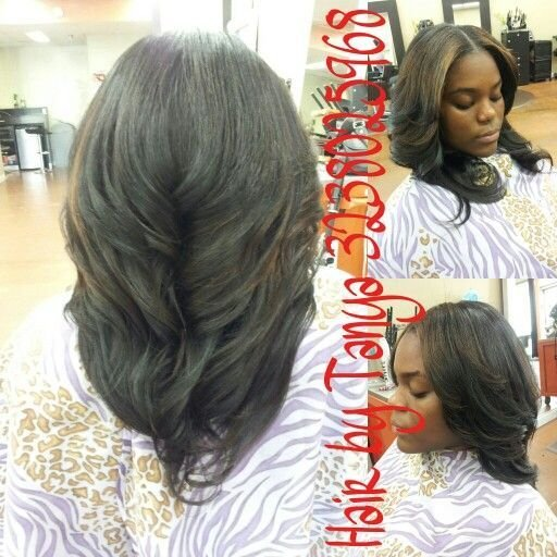 The Best Partial Sewed In Weave With Middle Part Partial Weaves Pictures