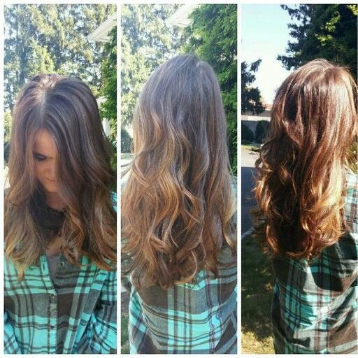 The Best Warm Caramel Highlights Redken Flaslift With 40 Vol Nat Level 5 Glazed With Redken Shades Eq Pictures