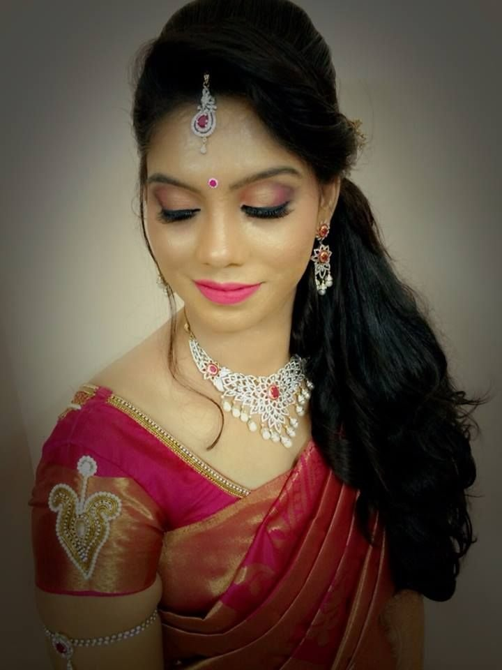 The Best Indian Bride S Bridal Reception Hairstyle By Swank Studio Find Us At Https Www Facebook Com Pictures