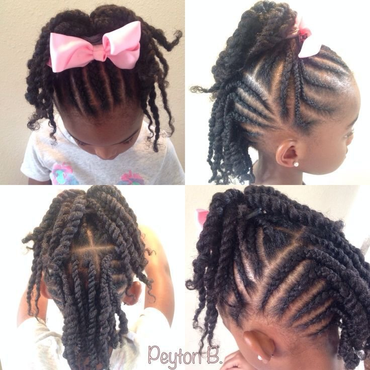 The Best Top Cornrows With Ends Twisted Up Into Ponytail Back Cornrows Two Strand Twists Natural Pictures