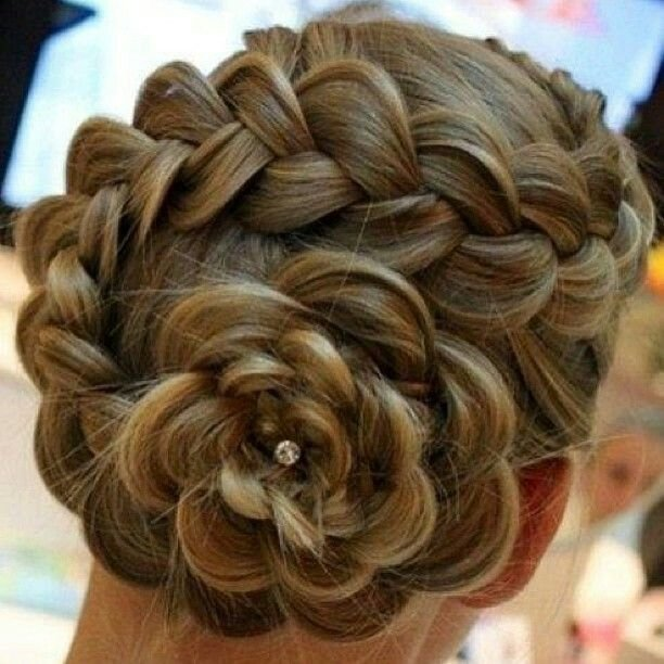 The Best Beautiful Braided Hair Into A Flower Bun Style Do That Pictures
