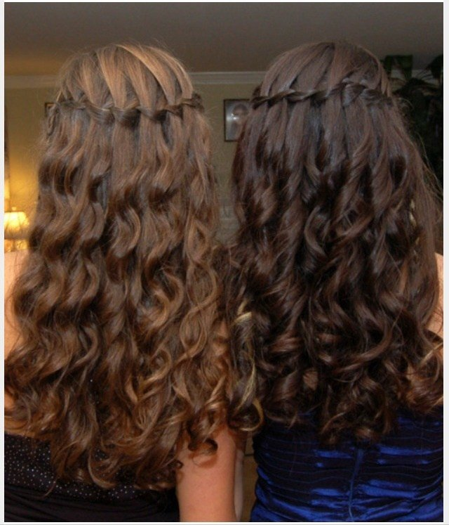 The Best Waterfall Braid With Curls Hair Pinterest Pictures