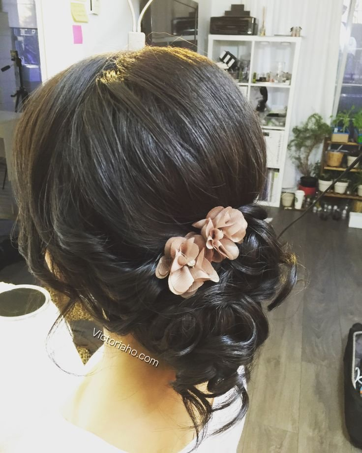 The Best Romantic Updo Side Bun Asian Hairstyles Hair All Down Pictures