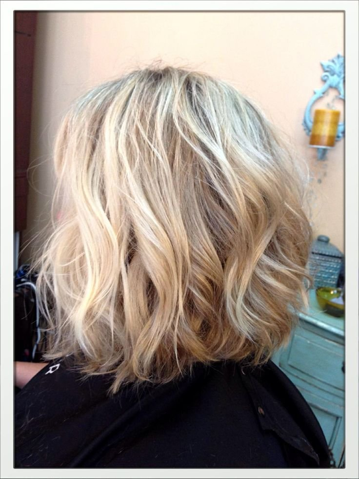 The Best Blonde Shoulder Length Slightly Inverted Bob New Haircut Wavy Bob Pinterest Stylists Pictures
