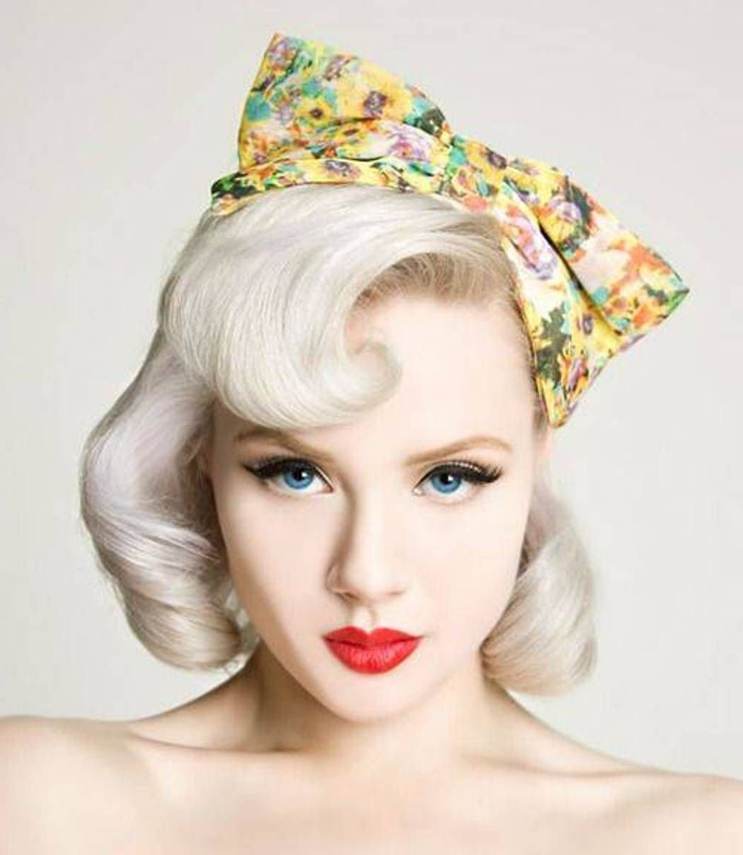 The Best Short Blonde Pin Up Girl Hairstyles Cakepins Com Vintage Pictures