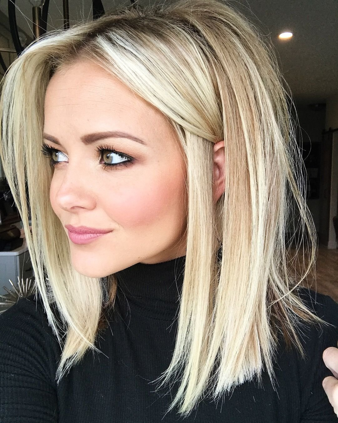 The Best Blonde Lob Haircut Love Her Color And He Length Hair Pictures