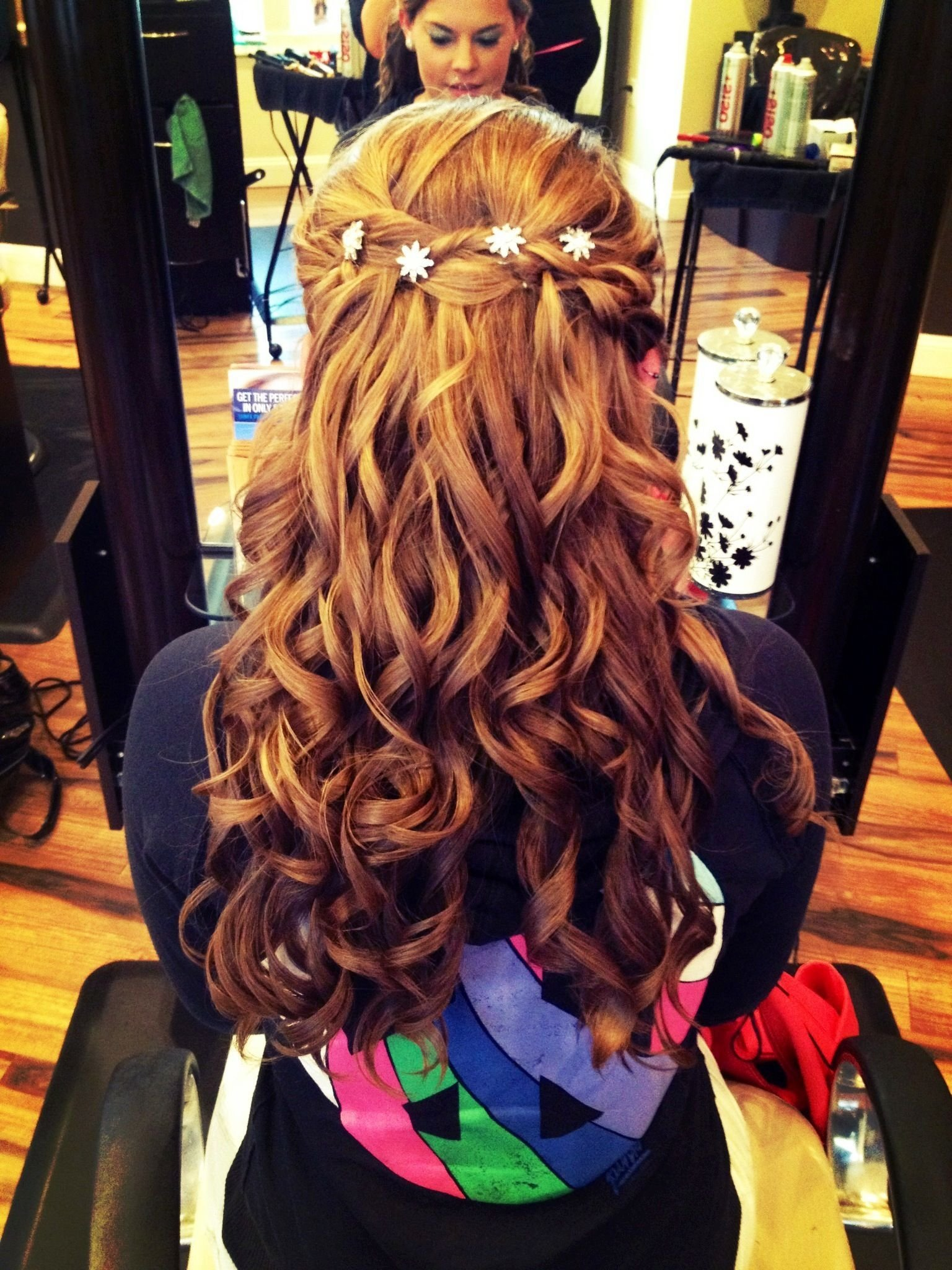 The Best Half Up Half Down Prom Updo With Curls Some Of My Work Pictures