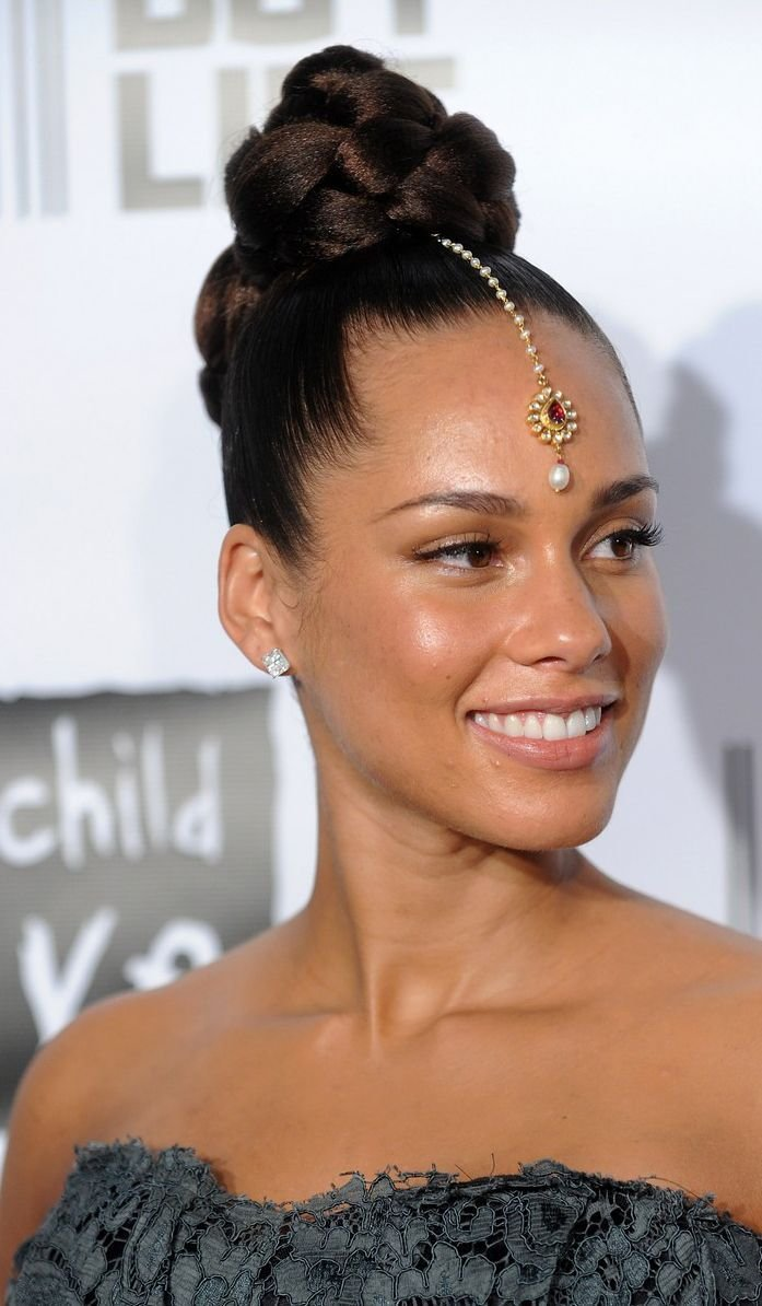The Best Alicia Keys Wedding Hairstyle Fade Haircut Pictures