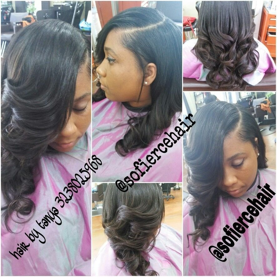The Best Partial Sew In Weave Little Hair Out Love Hair Pictures