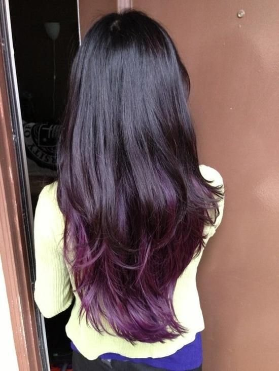 The Best Best Temporary Purple Hair Dye Set Dark Purple Black Hair And Dark Brown Pictures
